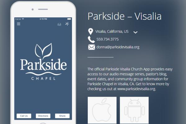 Parkside – Visalia Church App